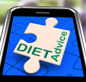 Diet Advice On Smartphone Showing Healthy Diets — Stock Photo