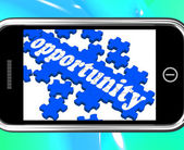Opportunity On Smartphone Shows Big Chances — Stock Photo