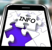 Info On Smartphone Showing Advisory — Stock Photo