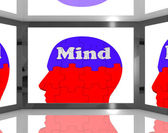 Mind On Brain On Screen Showing Human Capacities — Stock Photo