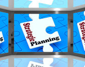 Strategic Planning On Screen Shows Organization — Stock Photo