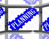 Pianificazione schermata illustrata guida tv — Foto Stock