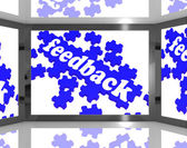 Feedback On Screen Showing Customers Review — Stock Photo