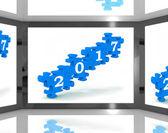 2017 sullo schermo risultati futuri calendari — Foto Stock