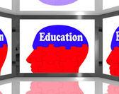 Eğitim ekranı gösterir insan beyin öğrenme — Stok fotoğraf
