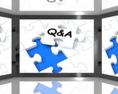 Q&A On Screen Showing Television's Guide — Stock Photo