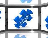 Advice On Screen Showing Advisory TV Shows — Stock Photo