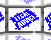 Legal Advice On Screen Showing Legal Consultation — Stock Photo