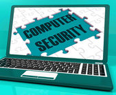 Computer Security On Laptop Showing Antivirus Scans — Stock Photo