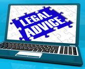 Legal Advice On Laptop Shows Criminal Justice — Stock Photo