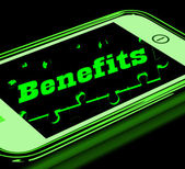 Benefits On Smartphone Showing Messages Bonus — Stock Photo