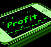 Profit On Smartphone Shows Lucrative Earnings — Stock Photo