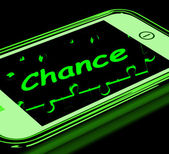 Chance On Smartphone Shows Opportunities — Stock Photo