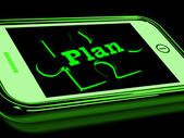 Plan On Smartphone Shows Business Aspirations — Stock Photo