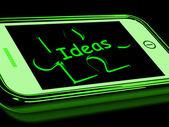 Ideas On Smartphone Shows Intelligence — Stock Photo