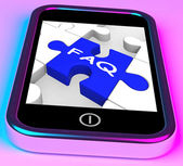 FAQ On Smartphone Showing Assistance — Stock Photo