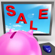 Sale On Monitor Showing Clearances - Stock Photo