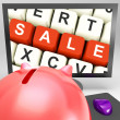Sale Keys On Monitor Showing Special Promotions — Stock Photo