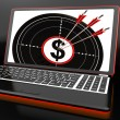 Stok fotoğraf: Dollar Symbol On Laptop Showing Investments
