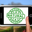 Natural On Smartphone Showing Untreated Products - Stock Photo