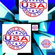 Made In USOn Cubes Showing Patriotism — Stock Photo #21245445