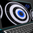 Arrows On Laptop Shows Perfection — Stock Photo