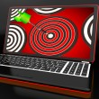 Target Hit On Laptop Shows Accuracy — Stock Photo