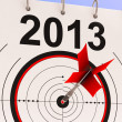 2013 Target Means Business Plan Forecast - Stock Photo