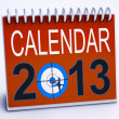 2013 Calendar Shows Year Planner And Schedule - Stock Photo
