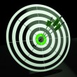 Triple Dart Shows Accuracy, Aim And Skill — Foto de stock #21245761