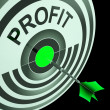 Stock Photo: Profit Means Financial Success And Earning Revenue