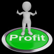Profit Computer Button Shows Earnings And Investments — Foto de stock #21245851