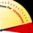 Stock Photo: Time For Teamwork Message Represents Combined Effort And Coopera