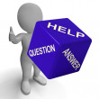 Help Question Answer Dice Showing Knowledge And Assistance — Stock Photo #21245951