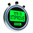 Time To Improve Message Meaning Progress And Improvement — Stock Photo