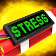 Stock Photo: Stress On Dynamite Shows Pressure Of Work