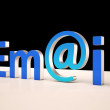 Stock Photo: E-mail Letters Shows Correspondence on Web