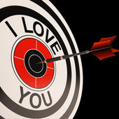 I Love You Target Shows Valentines Affection — Foto de Stock