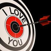 Te amo diana muestra valentines afecto — Foto de Stock
