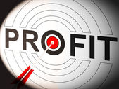 Profit Shows Lucrative Investment In Trading Market — Stock Photo