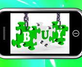 Buy On Smartphone Showing Consumerism — Stock Photo
