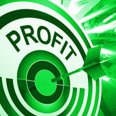 Profit Means Market And Trade Earning — Foto Stock