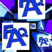 FAQ On Cubes Shows Advice — Stock Photo