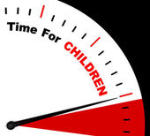 Time For Children Message Shows Playtime Or Getting Pregnant — Stock Photo