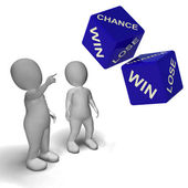 Chance Win Lose Dice Shows Luck — Stock Photo