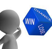 Chance Win Lose Dice Shows Gambling And Risk — Stock Photo