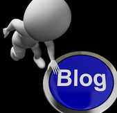 Blog Button For Blogger Or Blogging Web Sites — Stock Photo