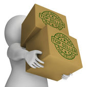 Top Seller Stamp On Boxes Showing Best Products — Stock Photo
