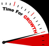 Time For Growth Message Representing Increasing Or Rising — Stock Photo