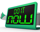 Do It Now Clock Shows Urgency For Action — Stock Photo